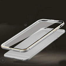 Ultra-Thin Aluminum Metal Back Clear Case Cover Bumper SKin for iPhone 5s 6 6S