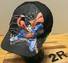 DC COMICS YOUTH SUPERMAN HAT ADJUSTABLE IN GOOD CONDITION