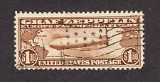 US C14 $1.30 Graf Zeppelin Air Mail Used w/ Flag Cancel VF SCV $375