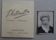 Lot Photos 6 Photomaton Pochette Monoprix Photo Booth Vers 1940/60