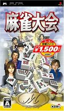 Used PSP Mahjong Taikai (Koei Selection)  Japan Import ((Free shipping))