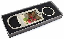 Monkey with Flowers Chrome Metal Bottle Opener Keyring in Box Gift Idea, AM-3MBO