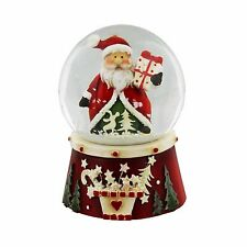 Santa Father Christmas & Parcel Snow dome globe Table Decoration Ornament XM2274