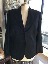 NWT Brooks Brothers Woman 20W 100% Cashmere Black Blazer $718