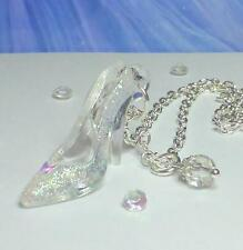 Cinderella Glass Slipper Crystal Necklace & Gift Bag ~ Dress Disney Inspired