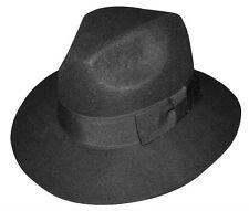New Men's 100% Wool Fedora Trilby Mobster Hat 6 Colors LH-5