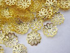 100 Casquillas De Bronce Oro Flor Caps (8mm) Bead finaliza la fabricación de joyas Resultados
