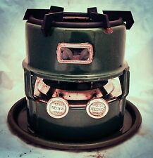 Antique Dutch VERBLIFA Enamel kerosene Fuel Stove Enamelware green c1940 RARE