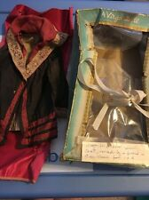Vintage Hand  Made Doll Coat With Old A Virga Doll Box