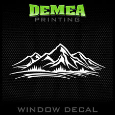 """MOUNTAINS - Personalized Window Car Decal  - 5"""""""