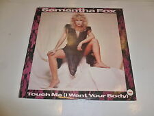 "SAM FOX - Touch Me (I Want Your Body) - 1986 UK 2-track 12"" vinyl single"