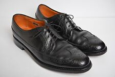 Florsheim Longwing Kenmoor Brogue Wingtip Black Pebble Leather Shoes Mens sz 11C