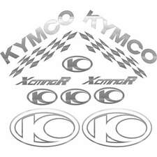 SET COMPLETO ADESIVI ARGENTO KYMCO XCITING 250 500 300 I R DECALS STICKERS 50X50