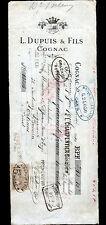 """COGNAC (16) ALCOOL COGNAC """"L. DUPUIS & Fils"""" en 1910"""