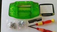 HOUSING POUR GAMEBOY ADVANCE CLEAR GREEN POKEMON NEW