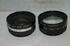 YASHIKOR AUX WIDE AND AUX TELEPHOTE LENSES.