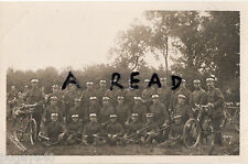 WW1 soldier group 7th Welsh Regiment ? Cyclist Battalion with bicycles