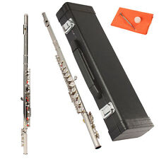 New Concert Silver Flute C Tone 16 Keys Closed Hole C Tone with Case