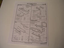 1967 Cutlass F-85  Crash  part # sheets