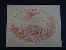 Carte de visite Visit card CDV Alexis TUMBEUF 1909 Bécon les Bruyères aéroplane