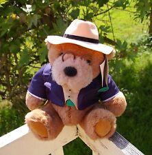 Lands' End Rugby Big Daddy Bear Teddy Plush Stuffed Animal Hat Glasses Jacket