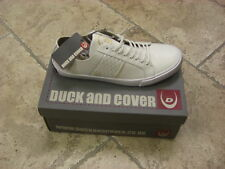 BNIB Mens DUCK & COVER White LACED Fashion Trainers (BROGAN) SIZE UK 9 /EU 43