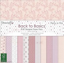 DOVECRAFT BACK TO BASICS PRETTY IN PINK PAPERS - 8 X 8 SAMPLE PACK - 12 SHEETS
