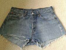 LEVIS REWORKED VINTAGE 501 WOMENS HIGH WAISTED DENIM SHORTS SIZE 30 WAIST