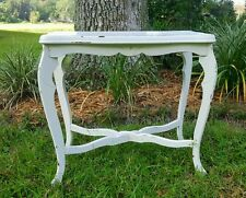 VINTAGE DISTRESSED SHABBY COTTAGE CHIC FRENCH COASTAL ACCENT TABLE Side End