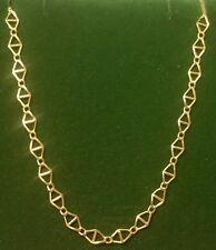 ☆♡☆ Vintage Mens Designer 9CT Yellow Gold Anchor Chain Necklace 18 Inch l@@K ☆♡☆