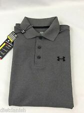 Under Armour MEN'S Athletic Golf Polo Loose Heat Gear Grey Size S