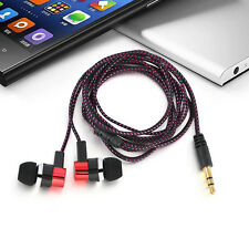 3.5mm In-Ear Earphone Super Bass Stereo Headphone Earbud Metal Headset Universal