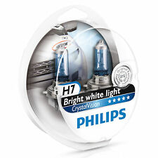 Philips Crystal Vision 4300K H7 Car Headlight Bulbs (Twin Pack of Bulbs)