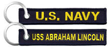 U.S. Navy / USS Abraham Lincoln - USN Embroidered Key Chain Fob