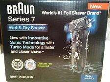 New BRAUN Series 740s-7 Sonic Technology W/Turbo Mode Wet/Dry Shaver *opened*