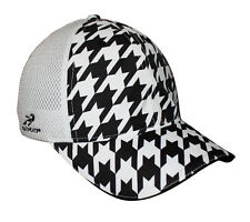 NEW Loudmouth Trucker Oakmont Houndstooth Black/White Fitted OSFM Hat/Cap
