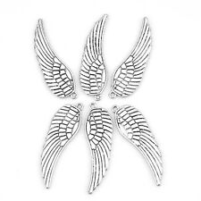 20pcs Hot Sale Antique Silver Angel One Wing Zinc Alloy Pendant Findings Lots D