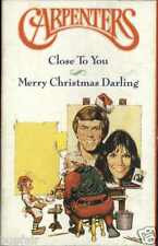 CARPENTERS - MERRY CHRISTMAS DARLING / CLOSE TO YOU 1990 UK CASSINGLE CARD SLEEV