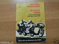1974 DUTCH TT ASSEN PROGRAMME GRAND PRIX MOTO GP,RENNPROGRAMM SC018 VRIES JAN