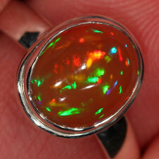 SZ 10 STUNNING Ethiopian Welo Opal  Ring 925 Sterling Silver Fire Honey Wollo