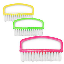 3 X MANICURE NAIL BRUSH PLASTIC NAIL SCRUBBING BRUSH FOR MANICURE PEDICURE