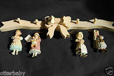 "JAN HAGARA CHRISTMAS ORNAMENTS-""SET OF 4 SEASONS WITH HANGING BOW"