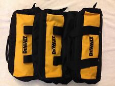 "3 New Dewalt Heavy Duty Ballistic Nylon 13"" Tool Bags w/ Solid Runners on Bottom"