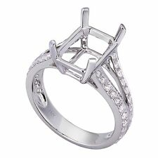 18K White Gold 0.57ctw Solitaire Diamond Ring Setting (Sizable)