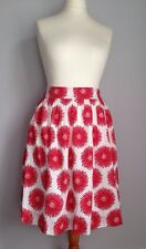 Rachel Riley Ladies Full Skirt Size 38 Uk 10 Red White Giant Floral Print Bnwt