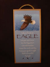 ADVICE FROM AN EAGLE Wisdom INSPIRATIONAL wood SIGN wall HANGING PLAQUE Bird NEW