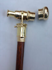 Walking Stick With Brass Telescope Wooden Cane Nautical Marine   - Gift