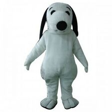 Snoopy white dog character fancy dress Cartoon Mascot Costume Adult Suit