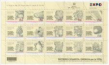 2015 Italia Repubblica EXPO BF € 0,80 x 15 nuovo MNH**