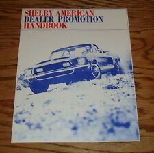 1968 Ford Shelby Cobra GT 350 500 Dealer Promotion Handbook 68